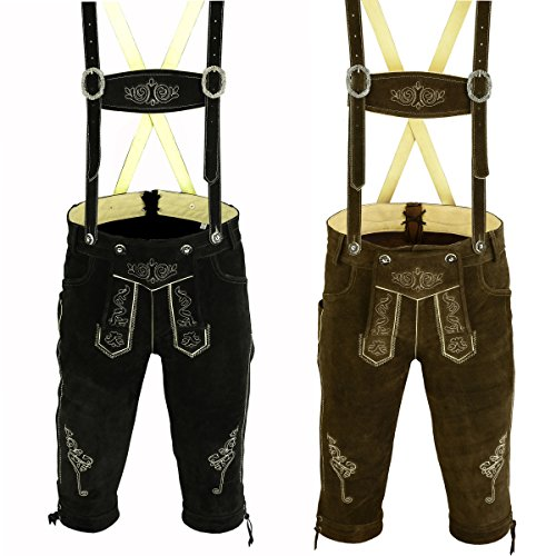 Trends Men's Bavarian Trachten Lederhosen Leather Shorts SOLD AS SET OF TWO (36) by Trends