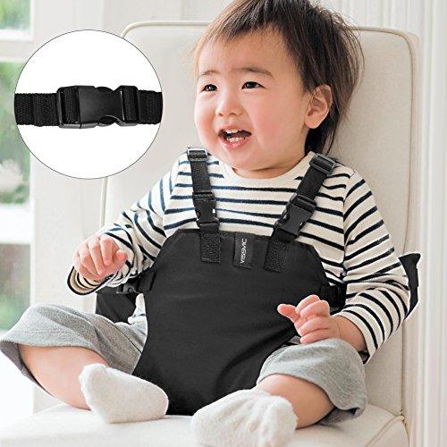 YISSVIC Portable Baby Feeding Chair Belt Toddler Safety Seat with Straps Child Chair Soft Belt Outdoor Portable Travel High Chair Booster Baby Seat Belt[2018 Updated]Black by YISSVIC