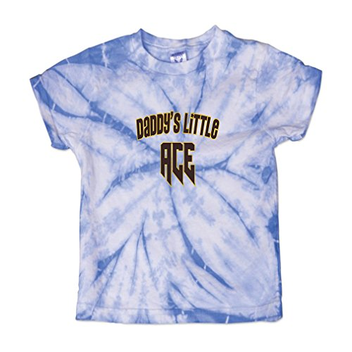 - Daddy s Little Ace Disc Golf Baby Kid 100% Cotton Tie Dye Fine Jersey T-Shirt Tee - Carolina Blue, 2T