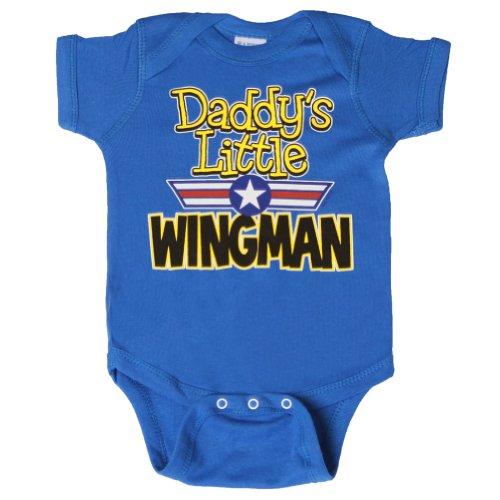 - Gravity Trading Daddy's Little Wingman Bodysuit, Royal 6 months