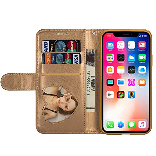 Amazon.com: Glamorous Bling Gold Leather Wallet Case Credit Card Cash Stand Cover with Zipper - Estuches Fundas Forros Carteras (Samsung Galaxy S6): Cell ...