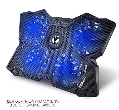 Tree New Bee Cooling Pad for 15.6 - 17-Inch Laptops with Four 120mm Fans at 1200 RPM, Black ()