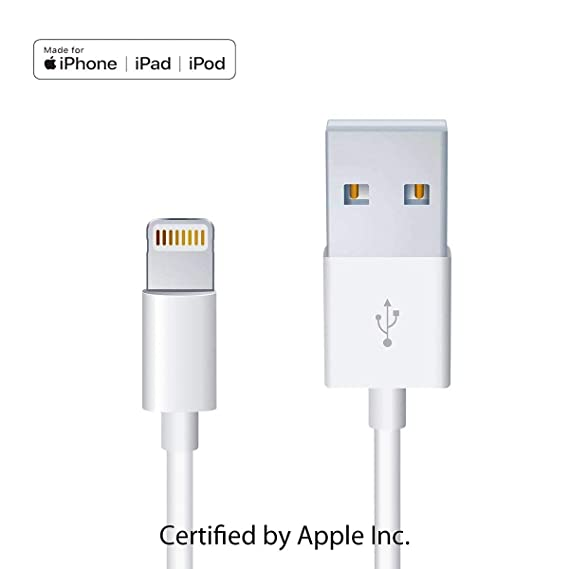 e82fa219ba1 Apple iPhone/iPad Charging/Charger Cord Lightning to USB Cable[Apple MFi  Certified
