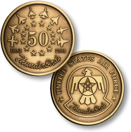 - Northwest Territorial Mint Thunderbirds 50th Anniversary Bronze Antique Coin
