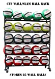 CFF 5 Tier Medicine Ball storade rack Holds up to 25 Wall/Slam balls 14'' gyms balls