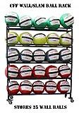 CFF 5 Tier Medicine Ball storade rack Holds up to 25 Wall/Slam balls 14'' gyms balls