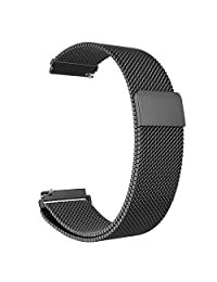 Gear S3 Frontier / Classic Watch Band, Fintie 22mm Milanese Loop Adjustable Stainless Steel Replacement Strap Bands for Samsung Gear S3 Classic / S3 Frontier Smart Watch - Black