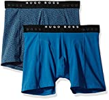 Hugo Boss BOSS Men's Boxer Brief 2p Print, Dark Blue, M