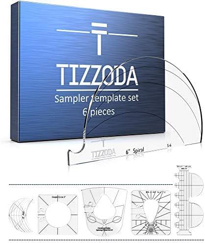 Lineal Vorlage Sampler Set f/ür Haushaltsn/ähmaschine Transparent Patchwork N/ähen Schneiden Craft Lineal DIY Werkzeuge PROKTH Quilting Lineal