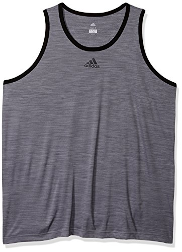- adidas Men's Heathered Tank Top, Grey/Black, Large