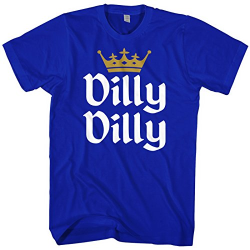 Crown Mens T-shirt - Mixtbrand Men's Dilly Dilly Gold Crown T-Shirt L Royal