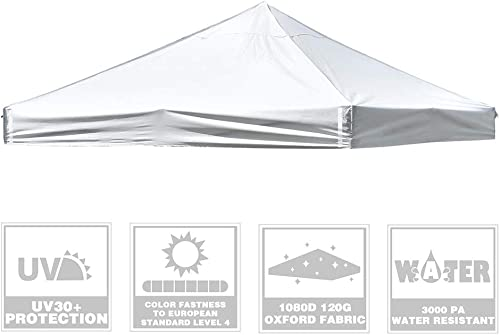 Instahibit 10x10Ft Replacement Pop up Canopy Top Cover UV30