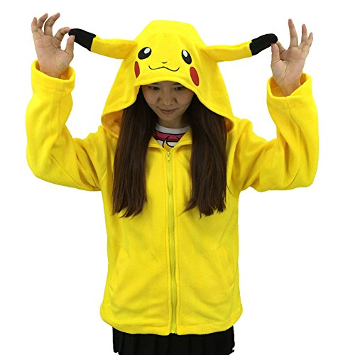 [King Ma Unisex Cute Cartoon Stitch Hoodie Costume Zipper up Hooded Tops] (Cute Costumes For Couples)