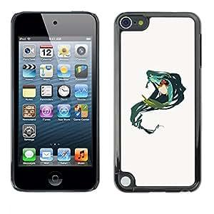 Ihec Tech Sirena Verde Naturaleza de hadas del arte del dibujo / Funda Case back Cover guard / for Apple iPod Touch 5