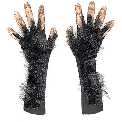 Adult Full Action Chimp Polyester & Latex Costume Hands -
