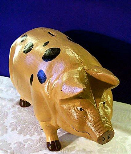 Pink Pig Piggy Bank X-Large - Door Stop - Garden - Cast Iron by PIGGYBANK (Image #2)