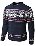 H2H Mens Casual Slim Fit Knitted Crew Neck Sweaters Thermal of Various Christmas Pattern Navy US S/Asia M (CMOSWL053)