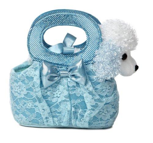 Aurora World Fancy Pals Plush Toy Pet Carrier, Aqua Lacey