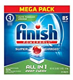 Finish Powerball Tabs Dishwasher Detergent Tablets, Fresh Scent, 90 Count (Packaging may vary)