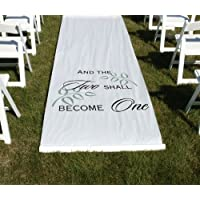 Two Shall Become One 100 Feet Long Aisle Runner