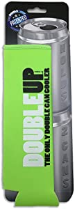 DoubleUp, Double Can Cooler (Green) – The Can Cooler that Holds Two Cans – Perfectly Fits Two 12oz or Two 16oz cans in this Double Can Coolie.