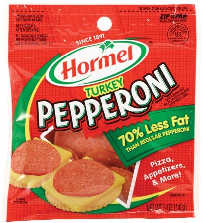 Hormel TURKEY PEPPERONI Slices 5oz (2 - Pepperoni Hormel