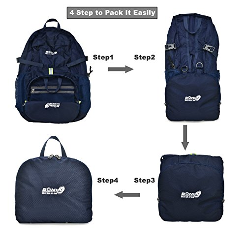 Foldable Backpack Packable Travel Backpack - 35L Durable Ultra Lightweight  Water Resistant Packable Daypack Handy for Hiking ... a9d03d3577
