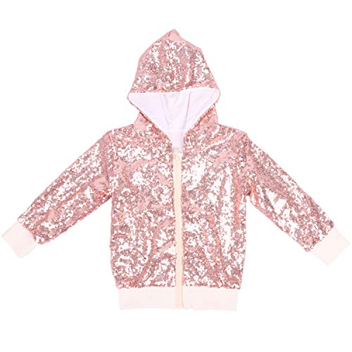 Cilucu Kids Jackets Girls Boys Sequin Zipper Coat Jacket for Toddler Birthday Christmas Clothes