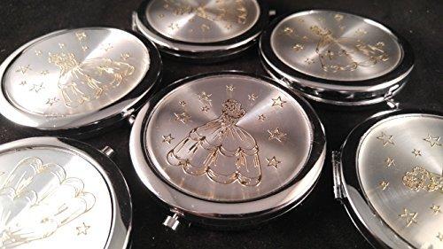 (Quinceañera Recuerdos. My Sweet 15 Princess Celebration Gifts Silver Plate Mirror memories Party Favor Set (12))