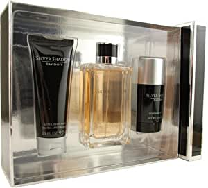 Silver Shadow By Davidoff For Men. Set-edt Spray 3.4-Ounce & Aftershave Balm 2.5-Ounce & Deodorant Stick 2.5-Ounce