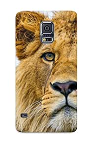 Durable Protector Case Cover With Animal Lion Hot Design For Galaxy S5 (ideal Gift For Lovers)
