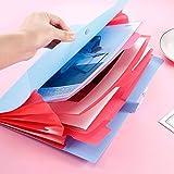Expanding File Folder 5 Pockets Accordion