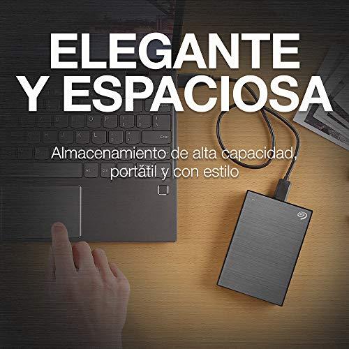 Seagate One Touch, 4 TB, Unidad Disco Duro Externa, USB 3.0, PC, Mac, 1 año Mylio Create, 4 meses Adobe Creative Cloud…