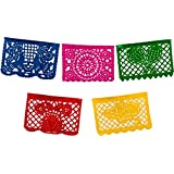 Large Plastic Mexican Banner- Multicolor