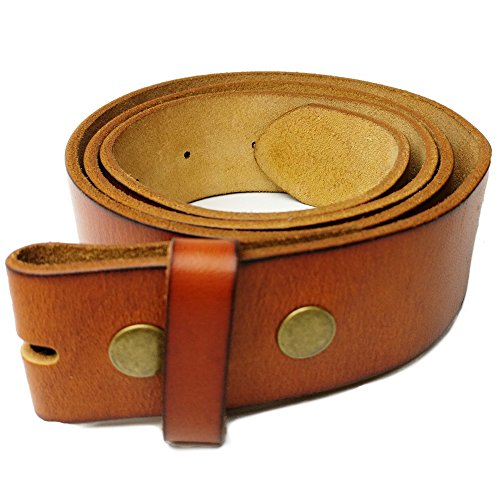 GFtime Leather Belt Vintage 38mm Genuine Full Grain Snap On Strap Belts 1.5 Inch Wide Brown 40 41 42