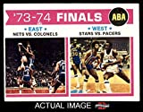 1974 Topps # 248 ABA Finals New York / Kentucky / Utah / Indiana Nets / Colonels / Stars-BskB / Pacers (Basketball Card) Dean's Cards 4 - VG/EX Nets / Colonels / Stars-BskB / Pacers