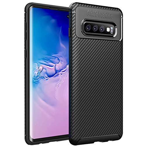 Case for Samsung Galaxy S10 Plus 2019 Release, HBorna Carbon Fiber Ultra Thin Soft TPU Case for Business Man, Anti-Scratches Flexible Protective Cover Compatible with Samsung Galaxy S10 Plus 2019