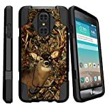 LG Risio 2 Case Kickstand Case| LG Rebel 2 | LG K4 (2017)Slim Case [SHOCK FUSION] Hybrid Shock Resistant Dual Layer with Kickstand Cover by Miniturtle - Deer Hunting
