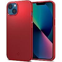 Spigen Thin Fit Fodral Kompatibel med iPhone 13 mini -Rot