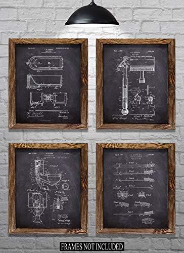 Bathroom Wall Decor - Bathroom Themed Patents - Set of Four - 8
