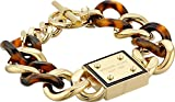 Michael Kors Women's Resort Curb Chain Logo Plaque Bracelet Tortoise/Gold One Size