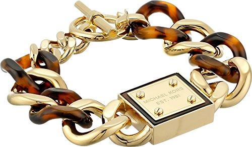 Michael Kors Women's Resort Curb Chain Logo Plaque Bracelet Tortoise/Gold One Size by Michael Kors