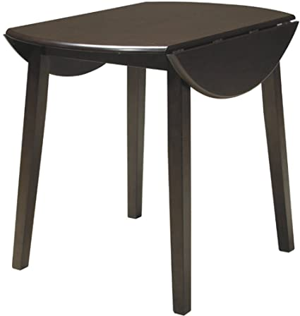 Ashley Furniture Signature Design   Hammis Dining Room Table   Drop Leaf  Table   Dark Brown