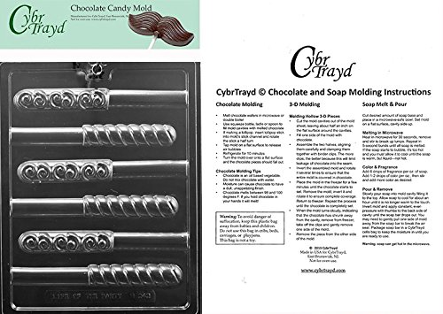 - CybrTrayd Swirl Pretzel Chocolate Candy Mold with Exclusive Copyrighted Chocolate Molding Instructions, Clear
