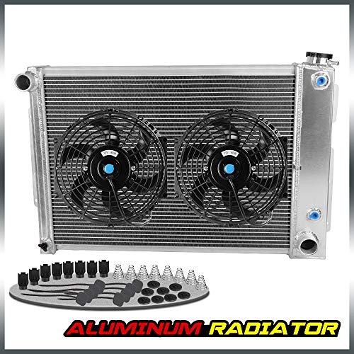 (Aluminum Racing Cooling Radiator Stop Leak FOR CHEVY CAMERO/PONTIAC FIREBIRD TRANS AM BIG BLOCK V8 AT 1967 1968 1969 + 10'' Radiator Cooling Fan)