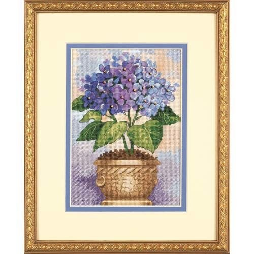 Dimensions Needlecrafts Counted Cross Stitch by Kathryn White, Hydrangea In Bloom