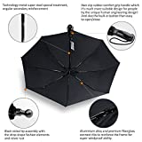 TOTU-Windproof-Umbrellas-Auto-Open-Close-Folding-Golf-Strong-Durable-Compact-Travel-Umbrella-Reinforced-Ribs-60-MPH-Windproof-Canopy-and-Slip-Proof-Handle-Portable-Lightweight-Easy-Carrying-Black