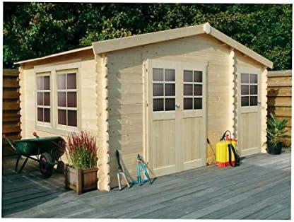 Cobertizo de madera para jardín Leipzig 13, 35 M²: Amazon.es: Jardín