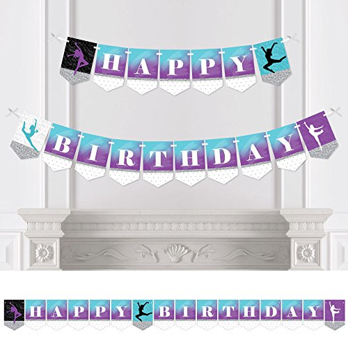 Big Dot of Happiness Must Dance to the Beat - Dance - Birthday Party Bunting Banner - Birthday Party Decorations - Happy (Dance Theme Decorations)