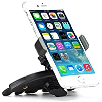 Premium CD Player Slot Car Mount Phone Holder Dock for iPhone SE, 6 6S, 6 and 6S Plus, 5S 5C 5 5G 4S (All carriers including AT&T, T-Mobile, Sprint, Verizon, Straight Talk, Unlocked)